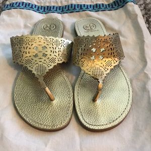 Tory Burch Roselle sandals in Gold